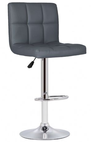 1 Milan Grey Faux Leather Padded Seat Bar Stool